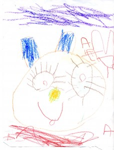 Cat drawing by Aidan